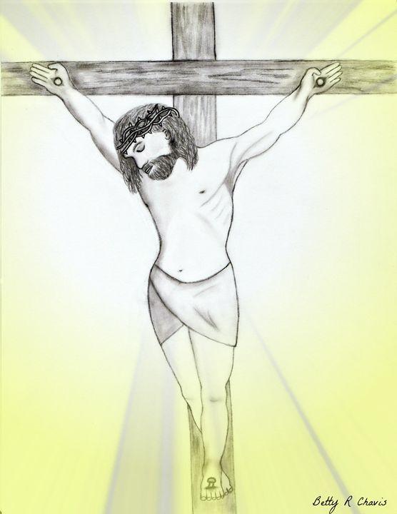 Jesus on the Cross - Chavis Art