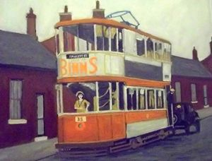 Sunderland Tram With Woman Driver