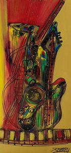 My Sax My Way - JazzXpressionstudio Art