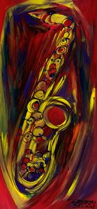 Big Saxy Jazz - JazzXpressionstudio Art