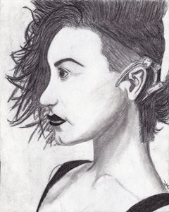 Charcoal Demi Lovato Art