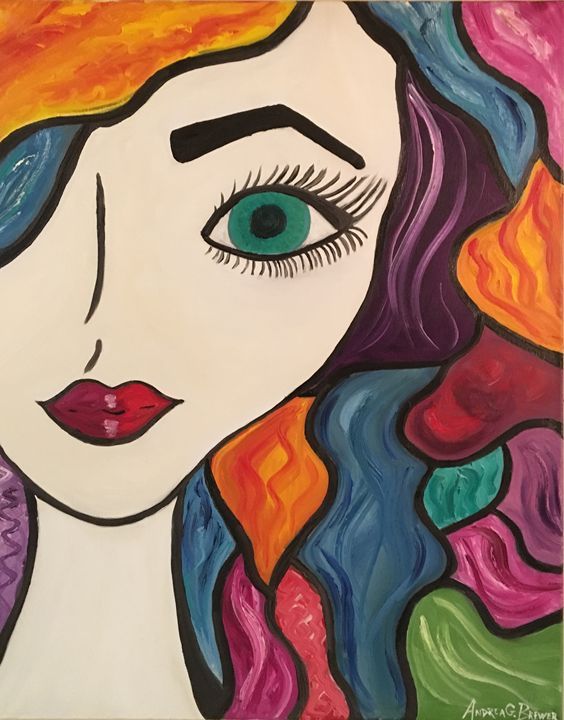 Abstract Self portrait - Andrea Brewer's Artwork and Crafts