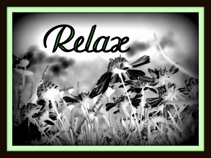 "Black & White ""Relax"" - A Touch of Forever by Cassie"
