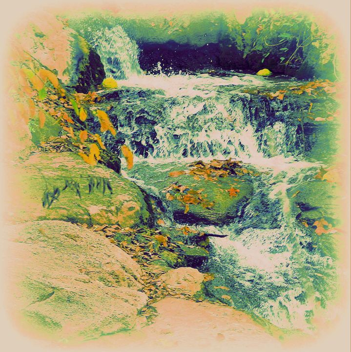Fall Waterfall - A Touch of Forever by Cassie