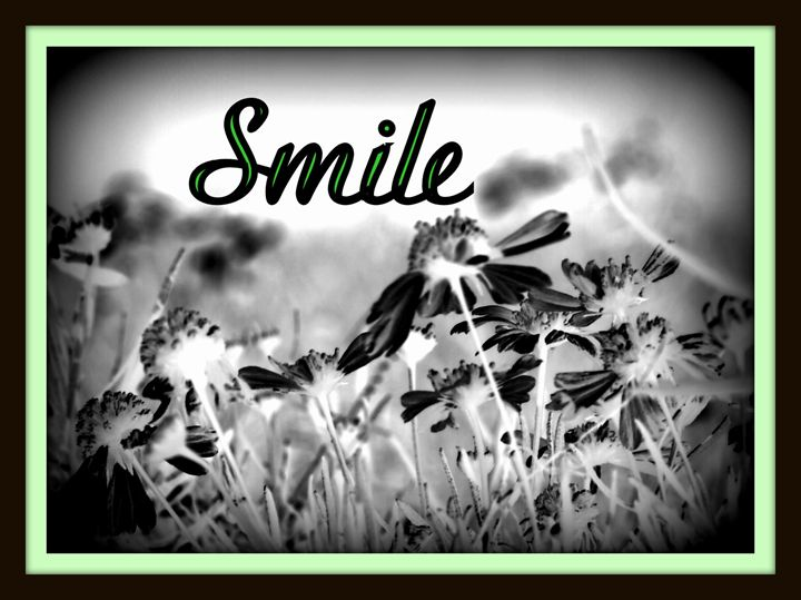 """Black & White """"Smile"""" - A Touch of Forever by Cassie"""