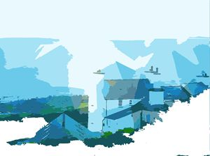 Coastal cottage landscape