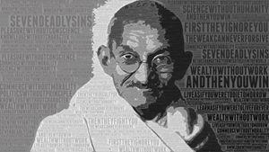 Gandhi Typography