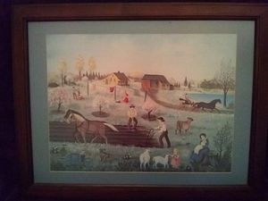 Martha Cahoon painting signed