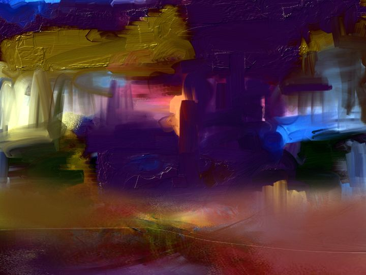 Purple Lake - Anivad Art