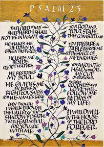 Psalm 23 Calligraphy Art Print
