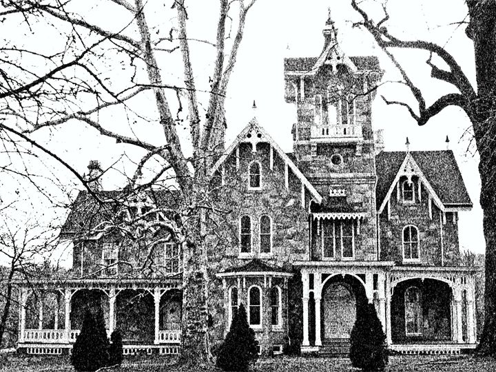 Stone Victorian Malvern Pa - Will Clark Art