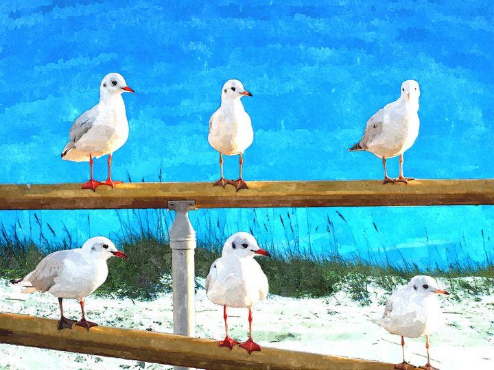 6 PACK AT THE BEACH - Will Clark Art