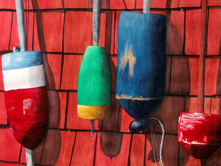 The Fishermen's Brushstrokes - Will Clark Art