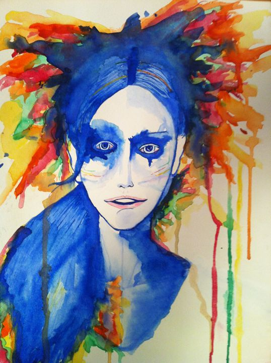 Colourful Character Turns Blue - RAWART