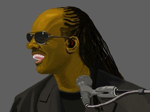 Stevie Wonder singing