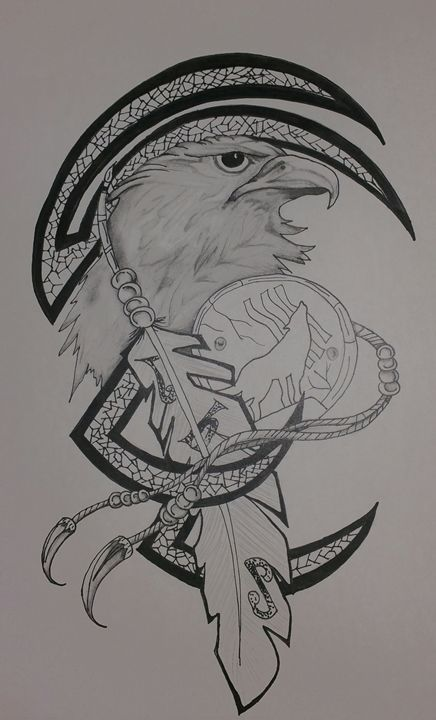 Eagle meets the Wolf - Crofford Art