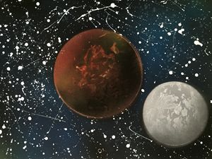 Red Planet and Moon