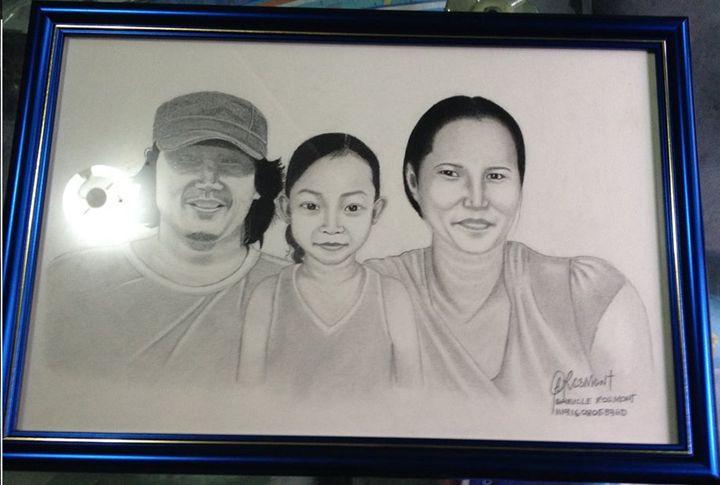 Portrait Mr. Moreno and Family - BR art