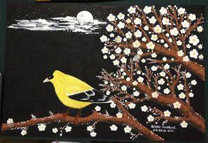 "Painting ""Yellow Bird"" - BR art"