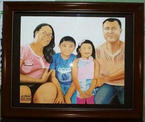 """Portrait """"Mrs. Fernandez n family"""""""