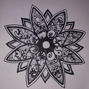 Hand Drawn Geometric Mandala