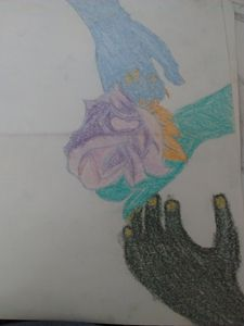 hands colored