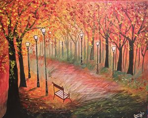 Fall Colors Canvas Painting