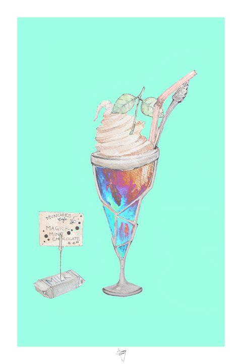 Spaced Out Ice Cream - Fresc Emocio Art