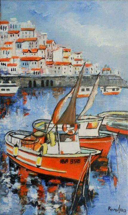 Sailboats - Maria Karalyos