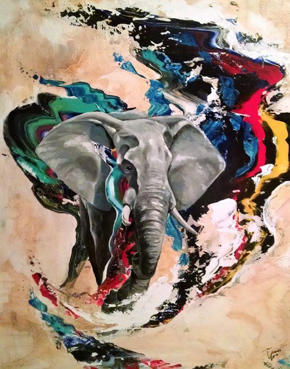 Elephant Rush - Luke Graves Art