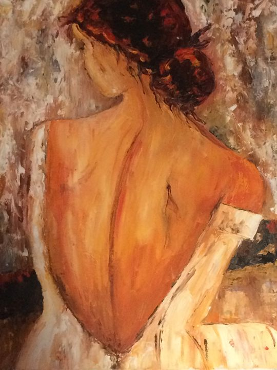 Woman with naked back - ARLEQUIN
