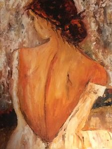 Woman with naked back
