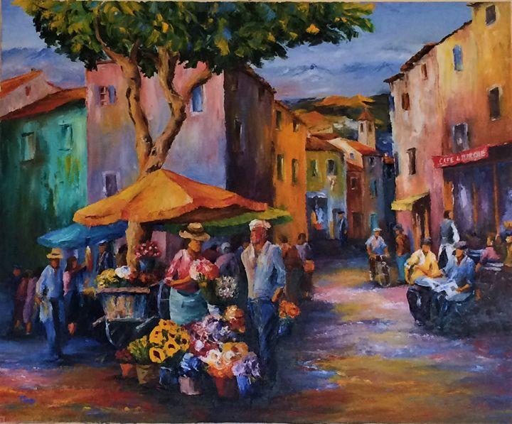 A market in a village - ARLEQUIN