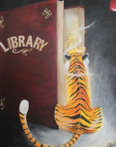 Tiger in the Library Book