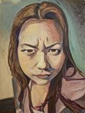 18X24 Portrait of a Young Woman in o