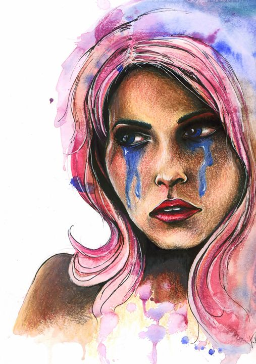"Watercolor ""Katja"" - Leah Sandberg // Studio330"
