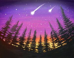 Shooting Stars At Night