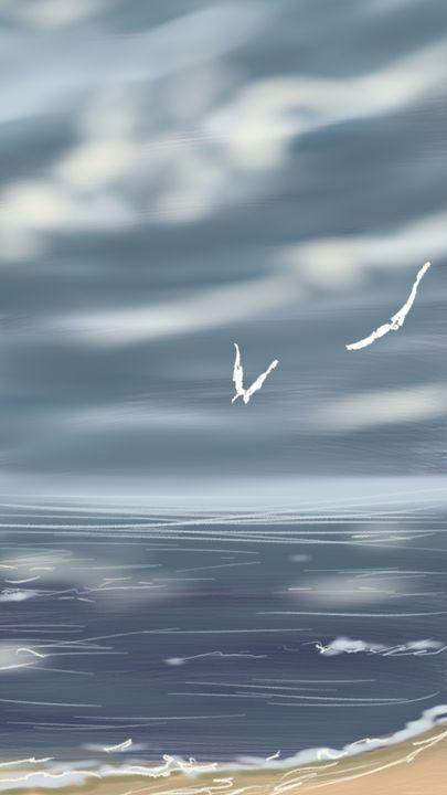 Seagulls - Artist at work