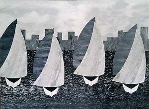 The Black and White Regatta - JG Art