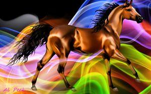 Horse in a fantasy world - digital art