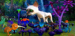 Katze im Fantasyland - digital art