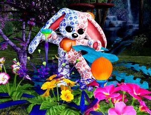 spielerischer Teddybär - digital art