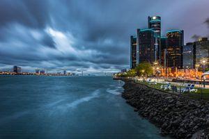 Stormy Night in Detroit - DETROIT PHOTOS