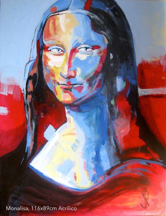 Monalisa , acrylic on canvas - Artespontaneo