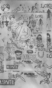 Avengers infinity war doodle