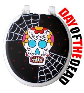 Day of the Dead Toilet Seat
