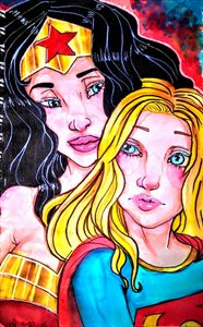 Wonder Woman and Super Girl