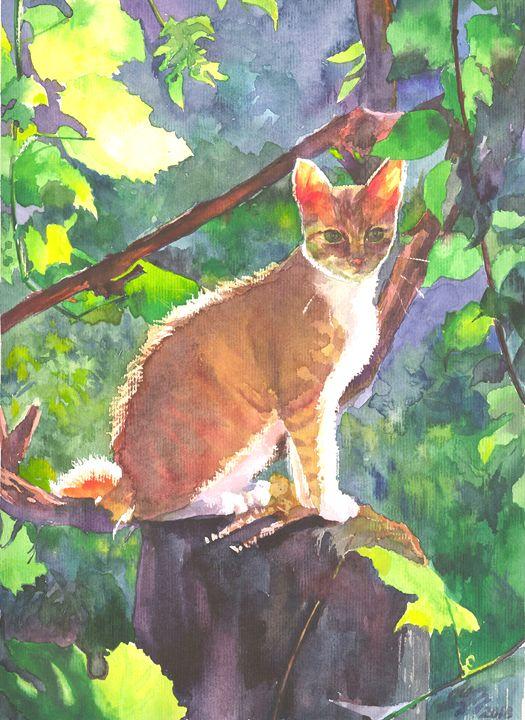 Sunshine cat 21,5Х29,5cm - Alla Cherniavska