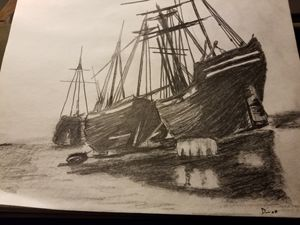 Ship of the past - Sketches