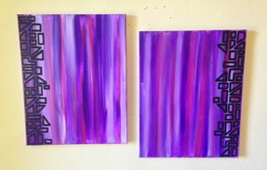 Two Piece Abstract Two